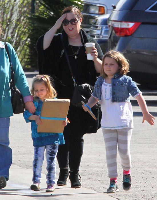 Melissa McCarthy with daughters