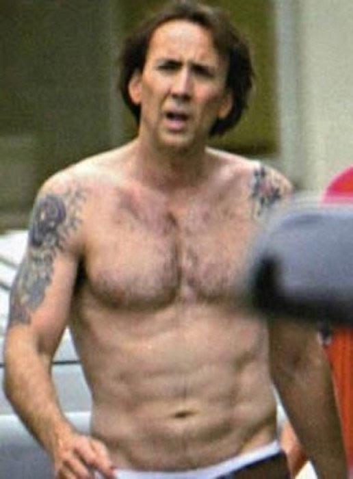 Nicolas Cage shirtless body