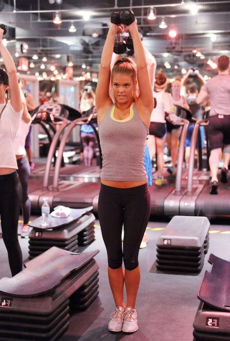 Nina Agdal workout at Barry's Bootcamp