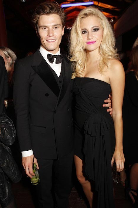 Oliver Cheshire and Pixie Lott at The GQ Men of the Year Awards 2014