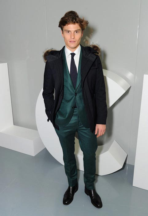 Oliver Cheshire at the E. Tautz show during The London Collections Men AW16 on January 9, 2016