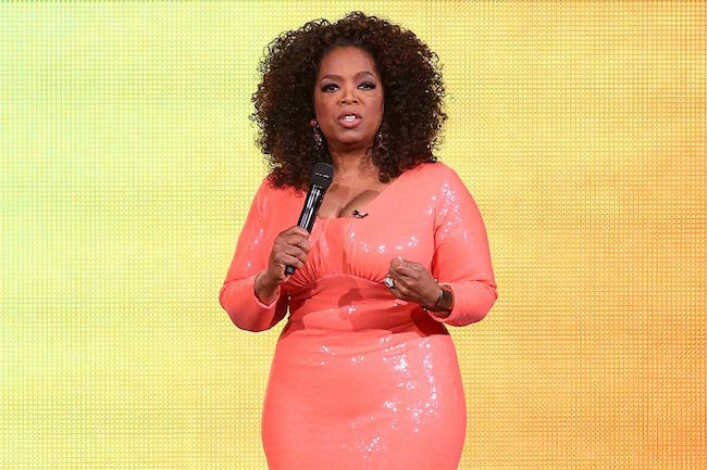 Oprah Winfrey talks on stage during her An Evening With Oprah tour on December 2, 2015 in Melbourne, Australia