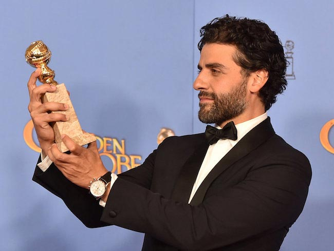 Oscar Isaac at 2016 Golden Globe Awards