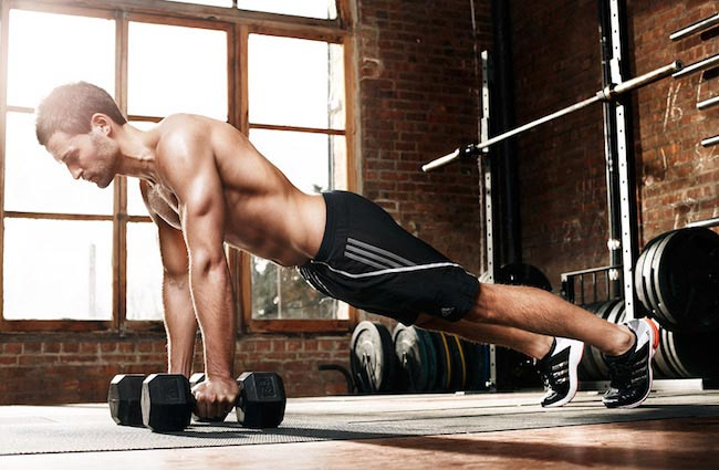 Physical Fitness dumbbell - man