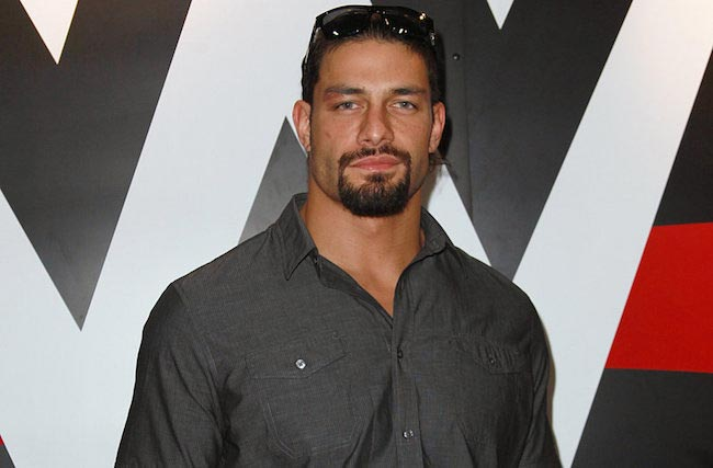 Roman Reigns WWE wrestler in shirt