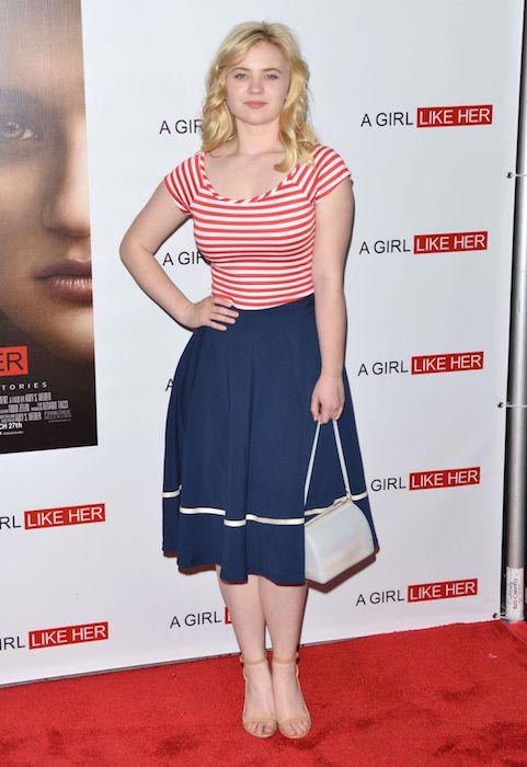 "Sierra McCormick at ""A Girl Like Her"" premiere in Los Angeles in March 2015"