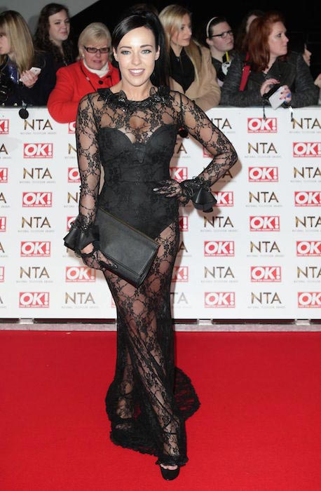 Stephanie Davis at 2015 National Television Awards in London
