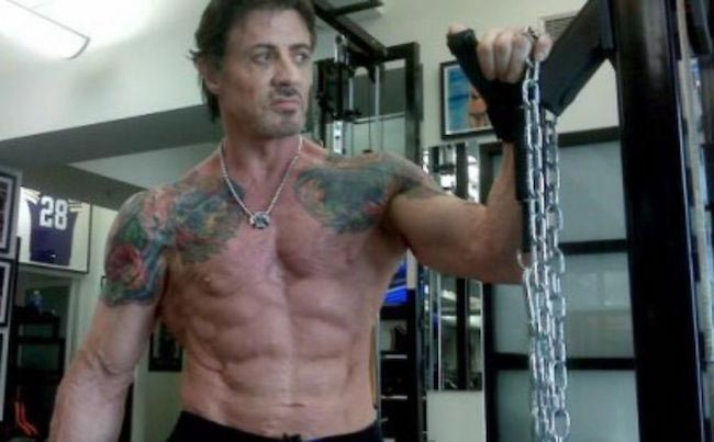 Sylvester Stallone shirtless body