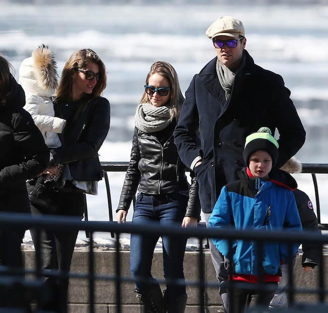Tom Brady and Gisele Bundchen sightseeing in New York with their children on March 1, 2015