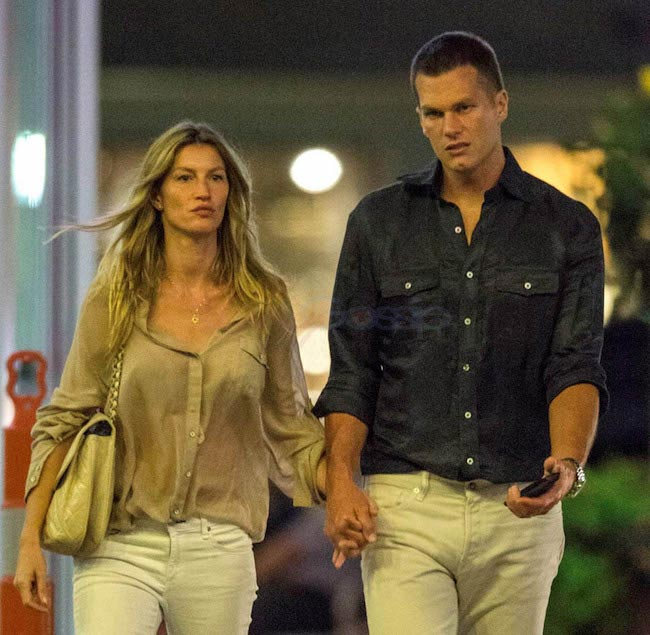 Tom Brady and Gisele Bundchen were photographed leaving a movie theatre in September 2015