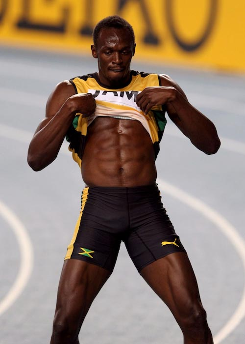 Usain Bolt shirtless body