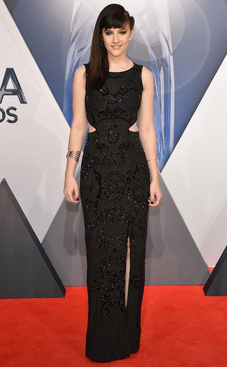 Aubrey Peeples at 2015 CMA Awards