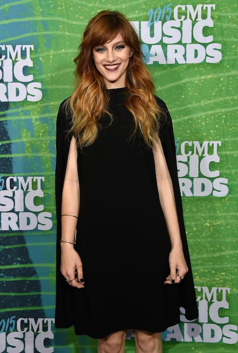 Aubrey Peeples at 2015 CMT Music Awards