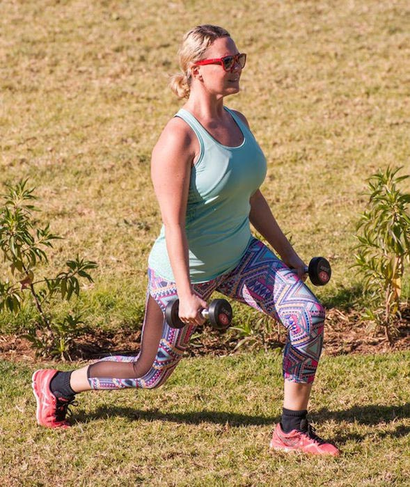 Bootcamp Expedition: Charlie Brooks doing Dumbbell Lunges