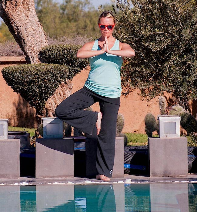 Bootcamp Expedition: Charlie Brooks poolside yoga