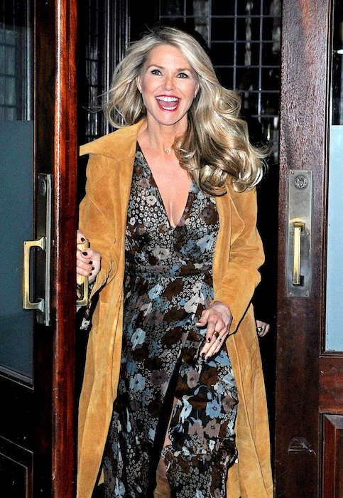 Christie Brinkley leaves her Tribeca Hotel in New York City on February 3, 2016