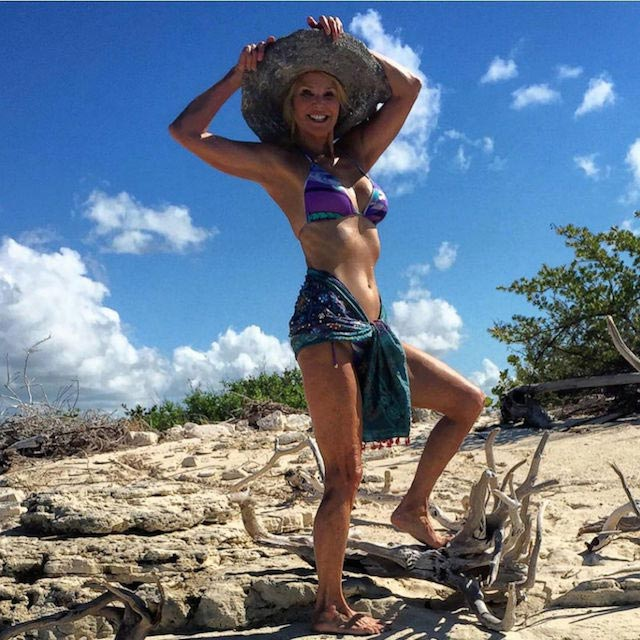 Christie Brinkley on a holiday in November 2015