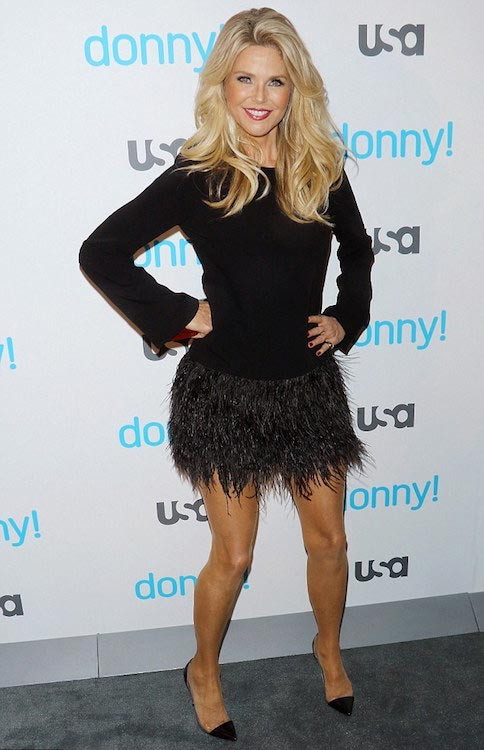"Christie Brinkley showed off her youthful figure and looks as she attended the premiere of ""Donny!"" at The Rainbow Room in New York City in Nov 2015"