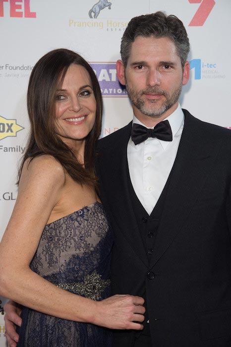 Eric Bana and Rebecca Gleeson at the Red Ball 2015