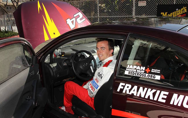 Frankie Muniz as a car racing driver