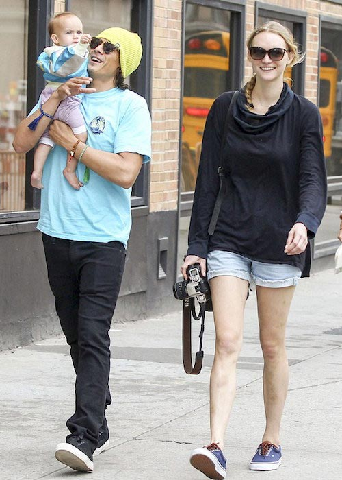 Gemma Ward and David Letts with daughter Naia