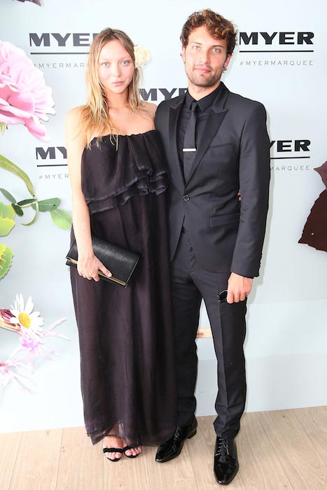 Gemma Ward at the Myer Marquee on Derby Day at Flemington Racecourse on October 31, 2015 in Melbourne, Australia