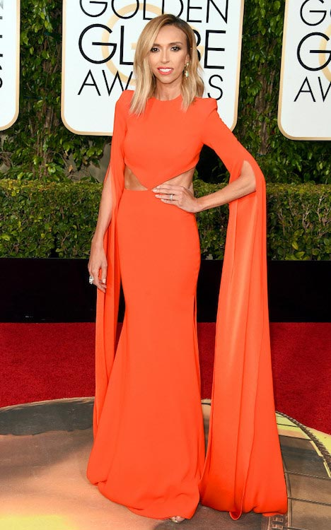 Giuliana Rancic at 2016 Golden Globe Awards