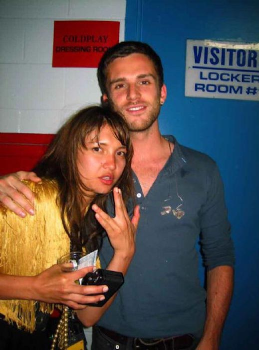 Guy Berryman and Joanna Briston