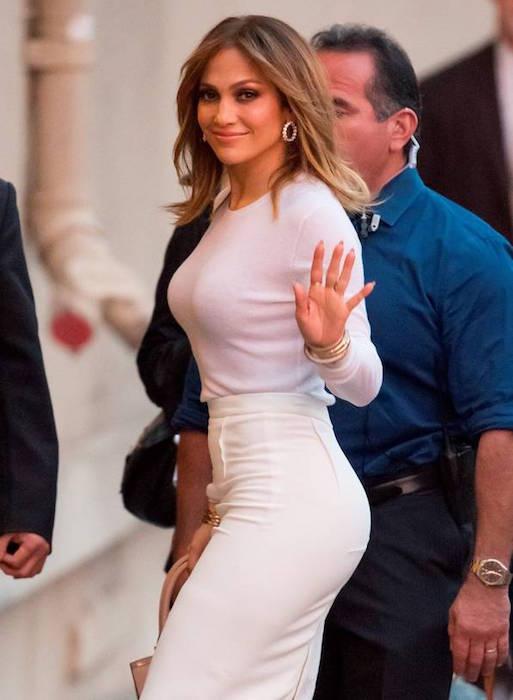 Jennifer Lopez was seen at Jimmy Kimmel Live on January 4, 2016
