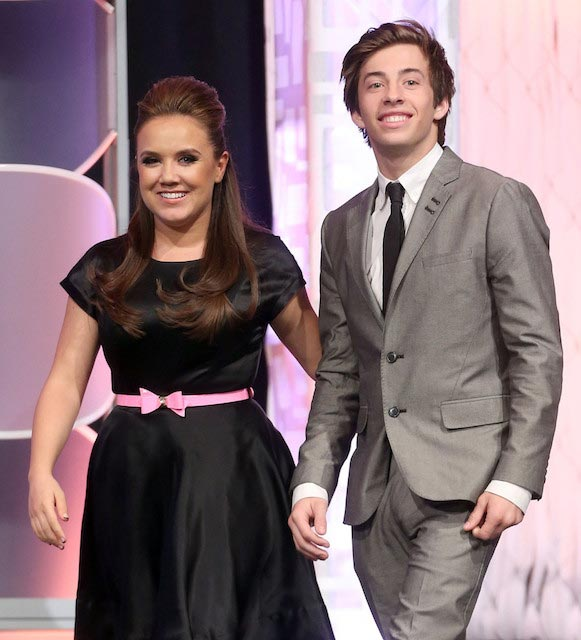 Jennifer Veal and actor Jimmy Bennett at the 21st Annual Movieguide Awards in 2013