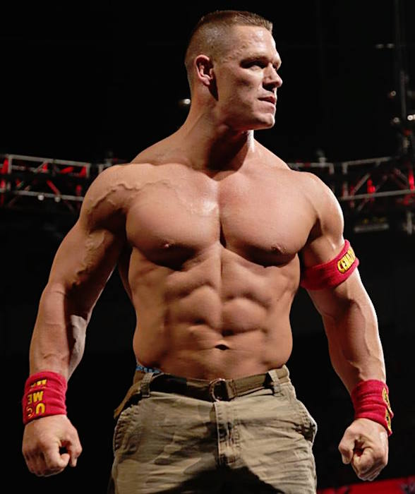 John Cena shirtless body