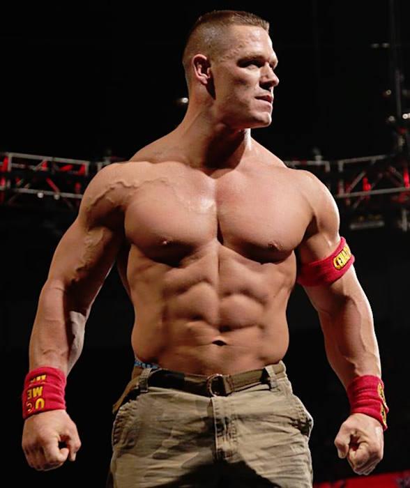 John Cena shirtless body
