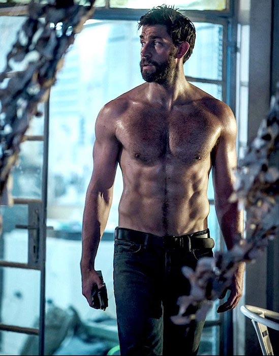 John Krasinski shirtless body
