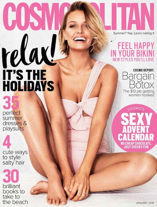 Lara Bingle at Cosmopolitan Australia - January 2016 Edition