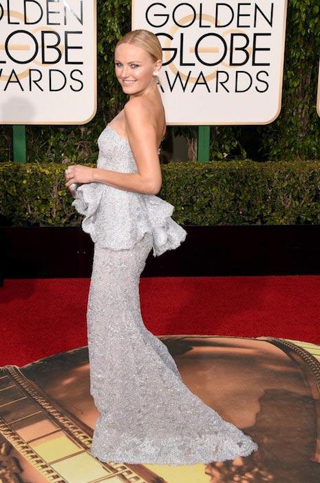 Malin Akerman wearing Reem Acra at 2016 Golden Globe Awards