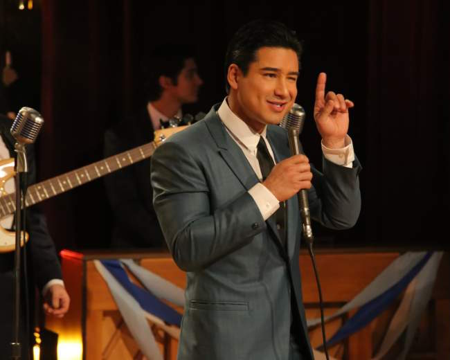 "Mario Lopez as Vince Fontaine in ""Grease: Live"""