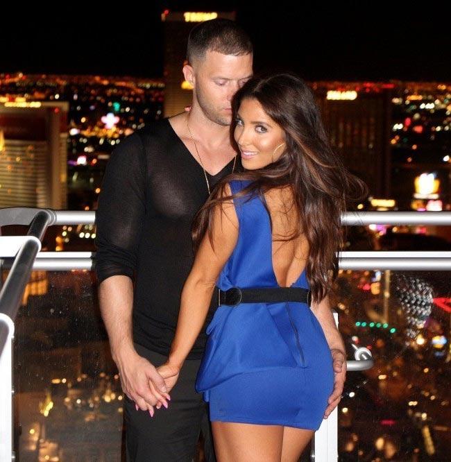 Melissa Molinaro celebrates her birthday at 1Oak with her boyfriend Brian