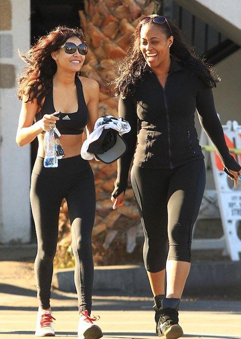 Naya Rivera in her workout gear