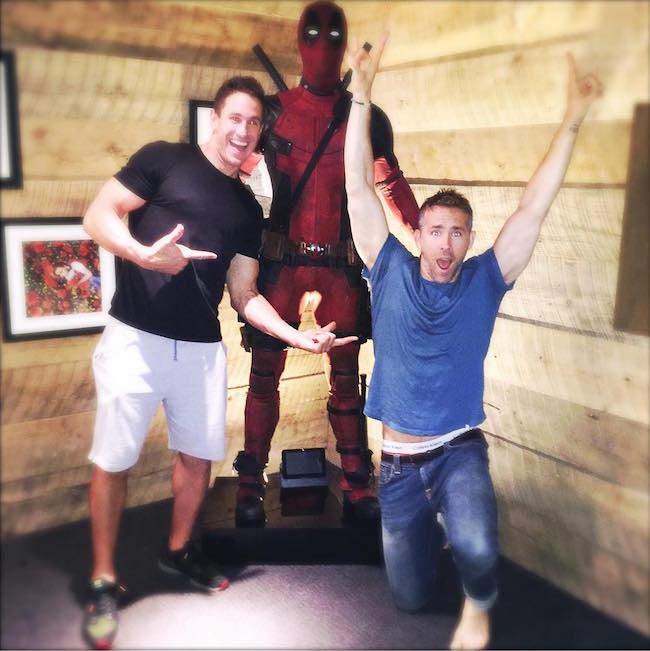 Ryan Reynolds with his trainer Don Saladino