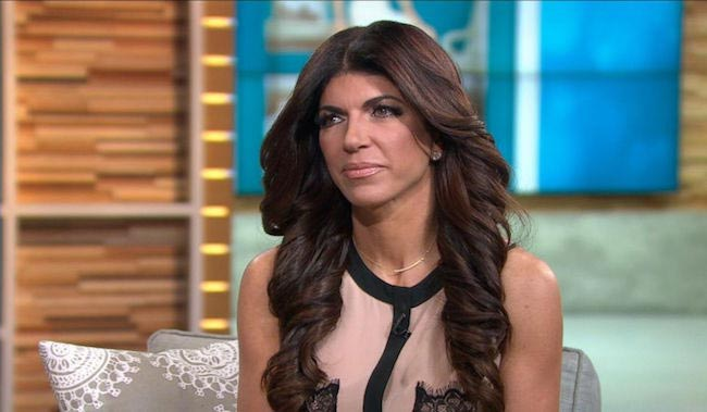 Teresa Giudice discussing prison time on ABC news in February 2016