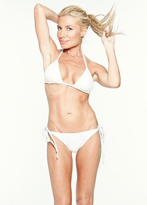 Tracy Anderson in white bikini