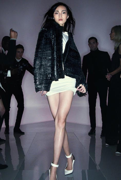 Xiao Wen Ju at Tom Ford Spring 2016 Ready To Wear Fashion Show