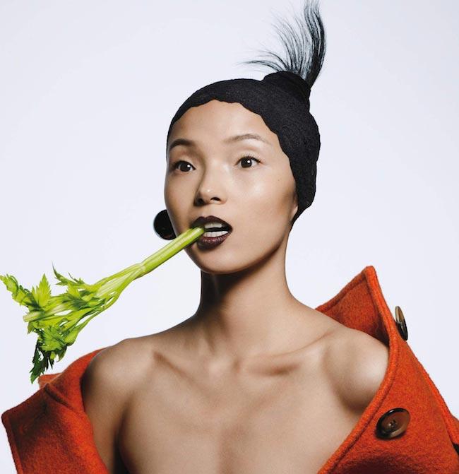 Xiao Wen Ju by Inez van Lamsweerde & Vinoodh Matadin for Vogue US August 2015