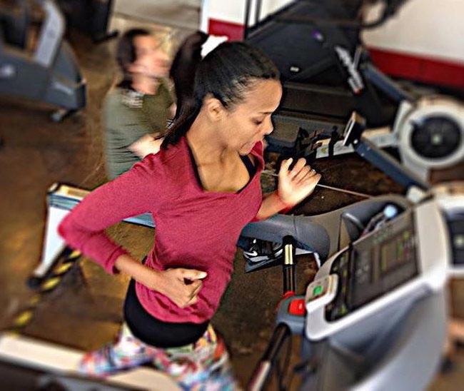 Zoe Saldana workout
