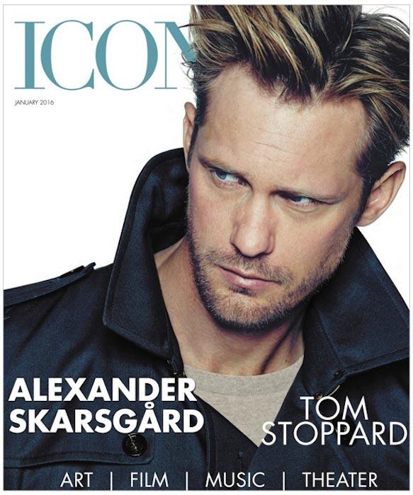 Alexander Skarsgard on Icon magazine's January 2016 Issue