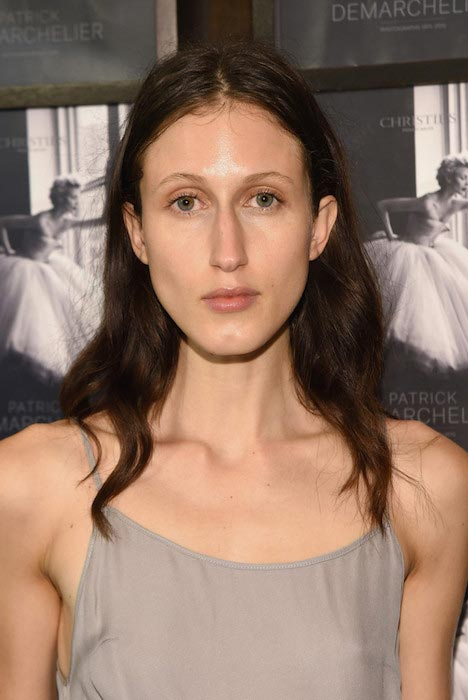Anna Cleveland at the Patrick Demarchelier special exhibition preview in September 2015