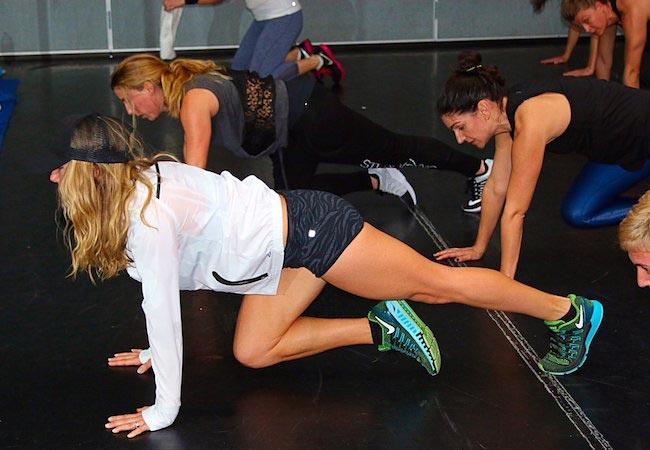 Anna Kaiser during a workout class