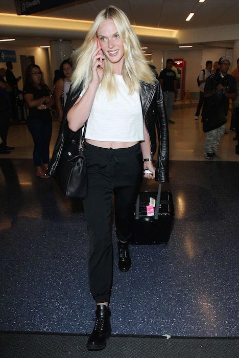 Anne Vyalitsyna at Los Angeles International Airport in October 2014
