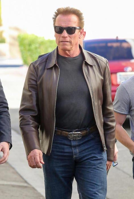 Arnold Schwarzenegger as seen in Beverly Hills on January 5, 2015 in Los Angeles