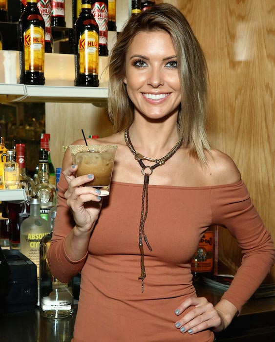 Audrina Patridge having a drink